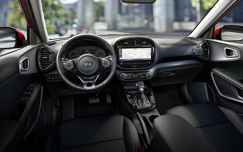The interior of a 2020 Kia Soul