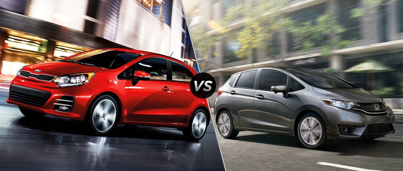 2016 Kia Rio 5-Door vs 2016 Honda Fit