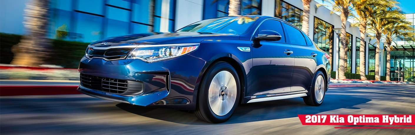 2017 Kia Optima Hybrid in Blue