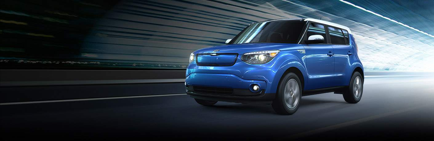 2017 Kia Soul EV in Blue and White