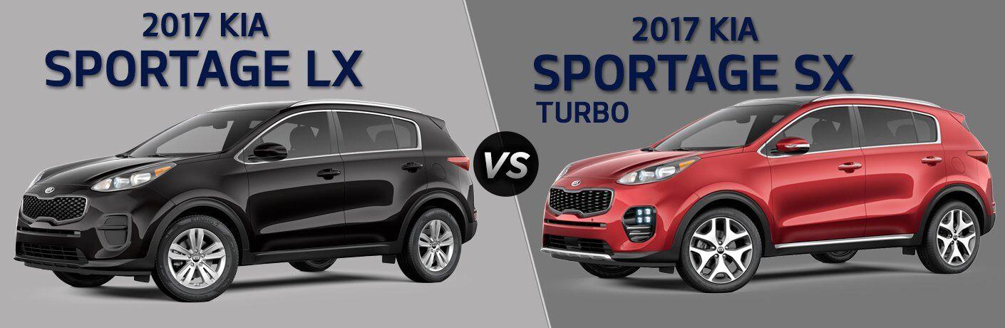 2017 Kia Sportage LX vs 2017 Kia Sportage SX Turbo