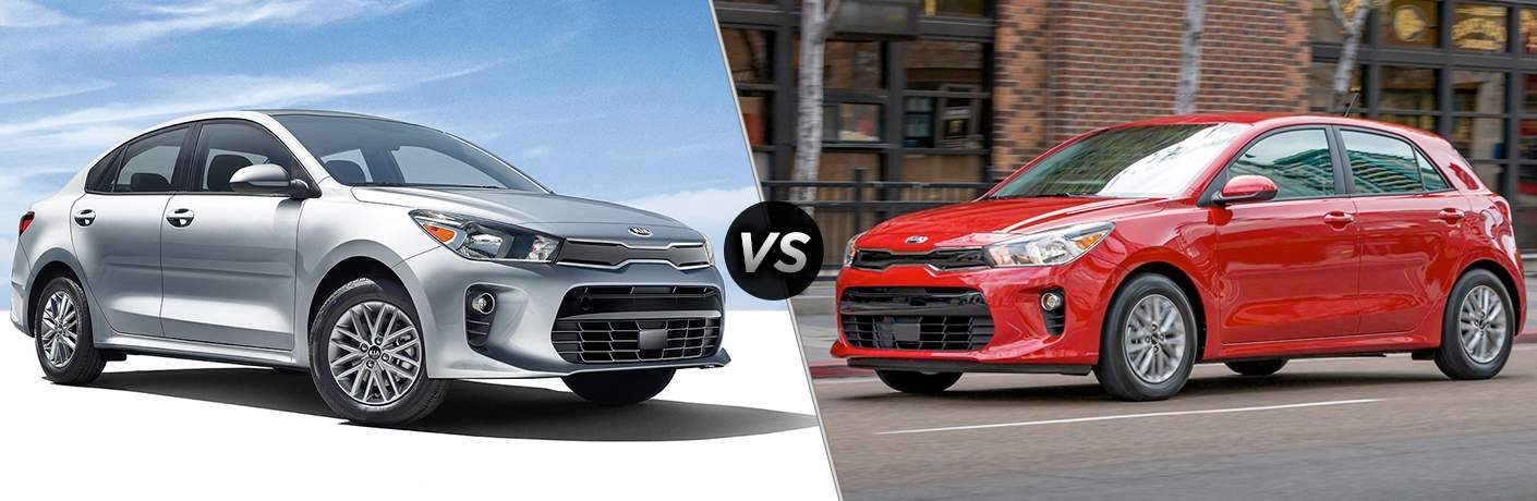 & 2018 Kia Rio Sedan vs 5-Door