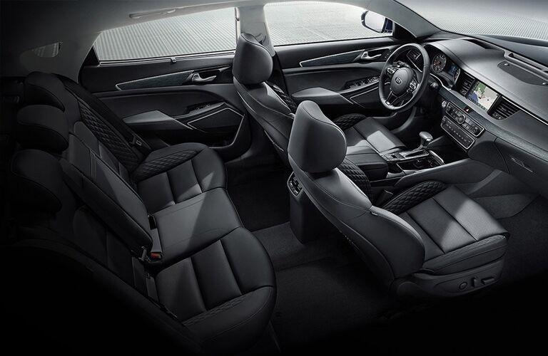 2019 Kia Cadenza rear and front seats