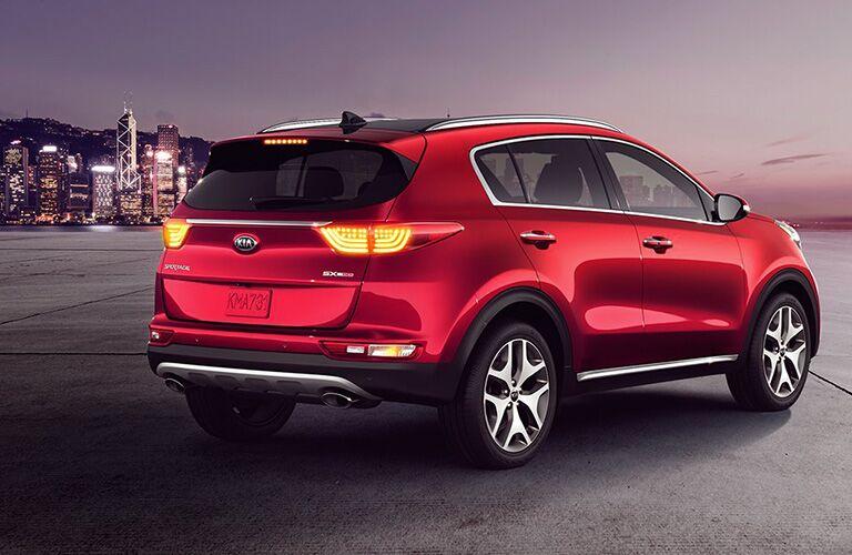2019 Kia Sportage exterior front fascia and passenger side