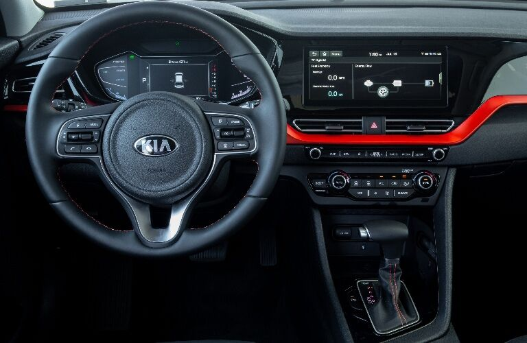 2020 Kia Niro Steering Wheel and Display Screen