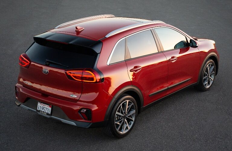 Red 2020 Kia Niro Touring rear view