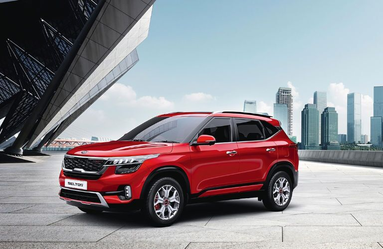 2020 Kia Seltos in red