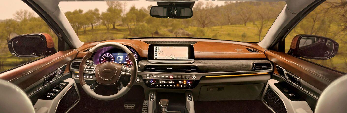 2020 Kia Telluride front interior