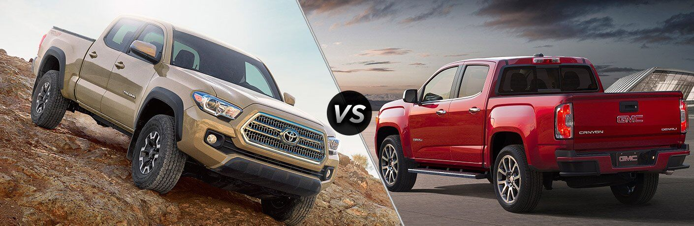 2017 Toyota Tacoma vs 2017 GMC Canyon