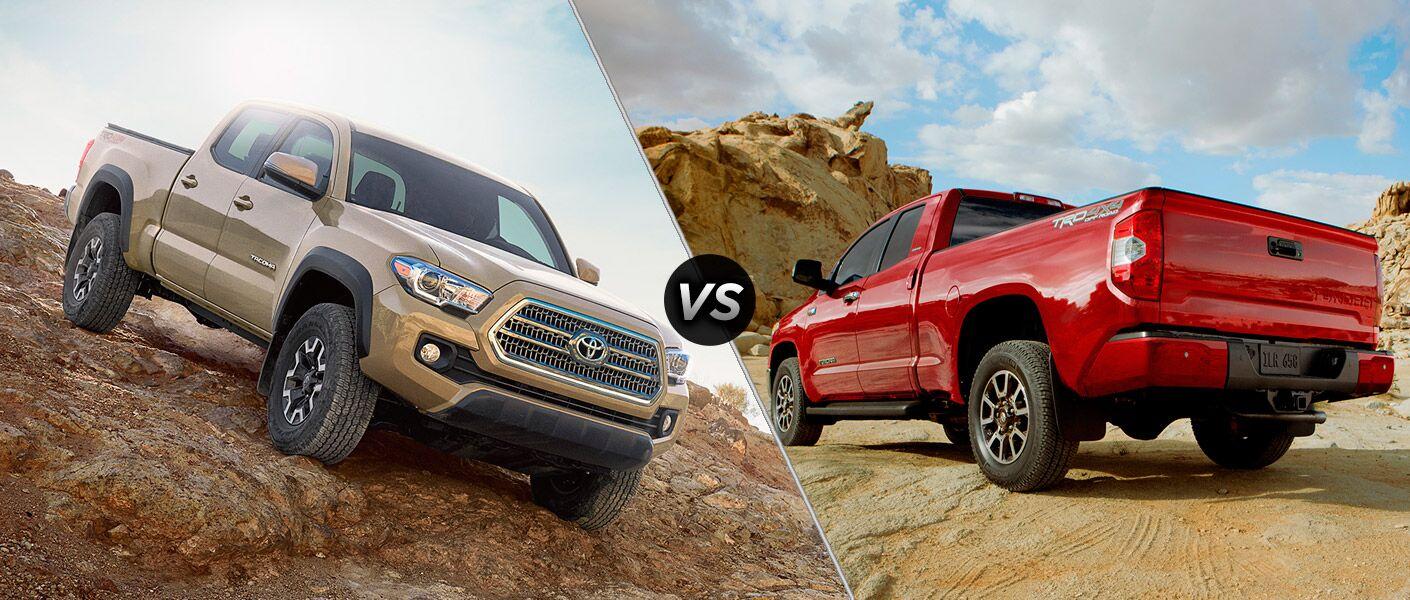 2017 Toyota Tacoma vs 2017 Toyota Tundra