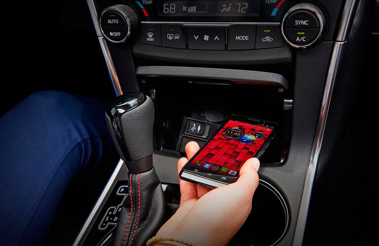 Qi wireless charging station in 2017 Toyota Camry