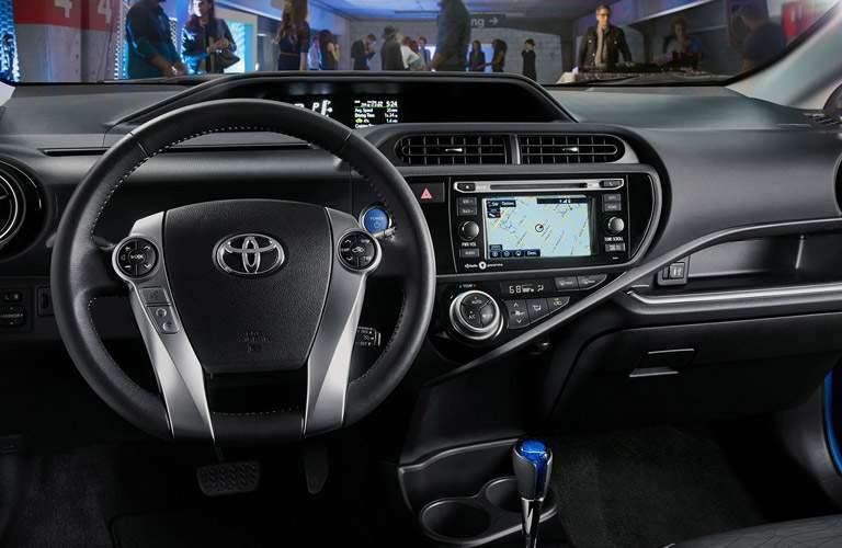 2017 Toyota Prius steering wheel and dashboard