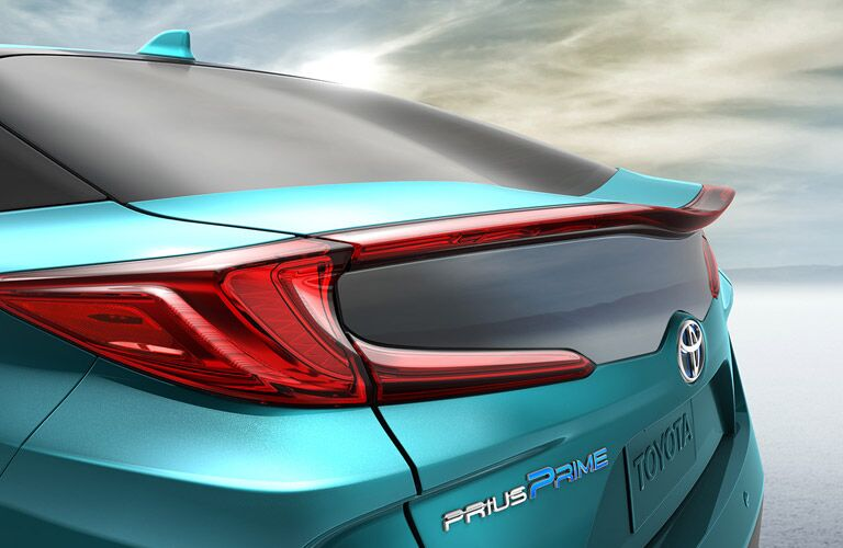 Tail light of 2017 Toyota Prius Prime