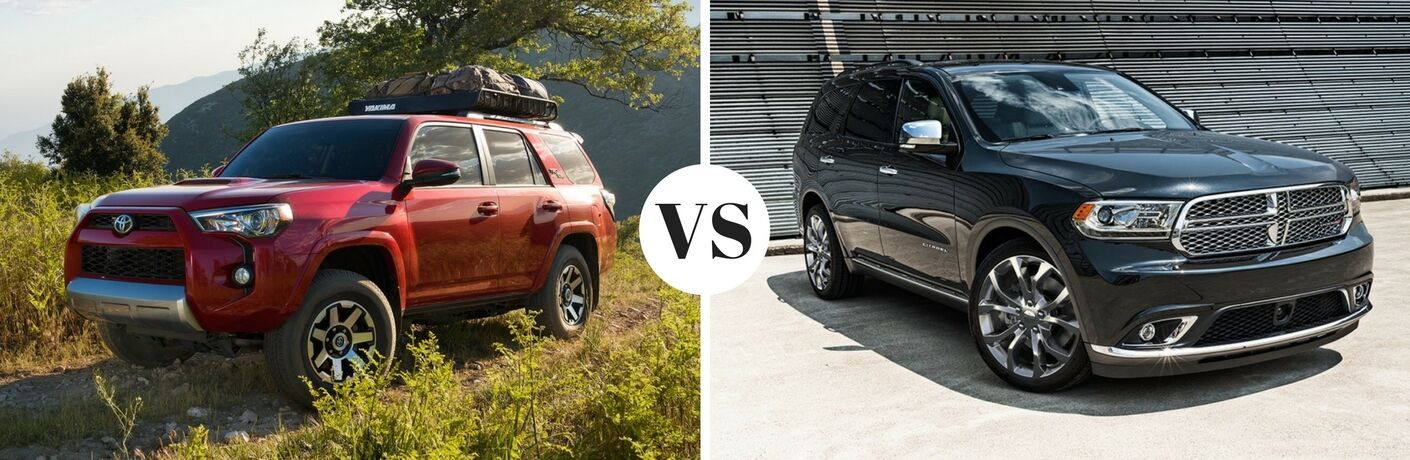 2017 Toyota 4Runner vs 2017 Dodge Durango