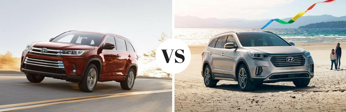 2017 Toyota Highlander vs 2017 Hyundai Santa Fe