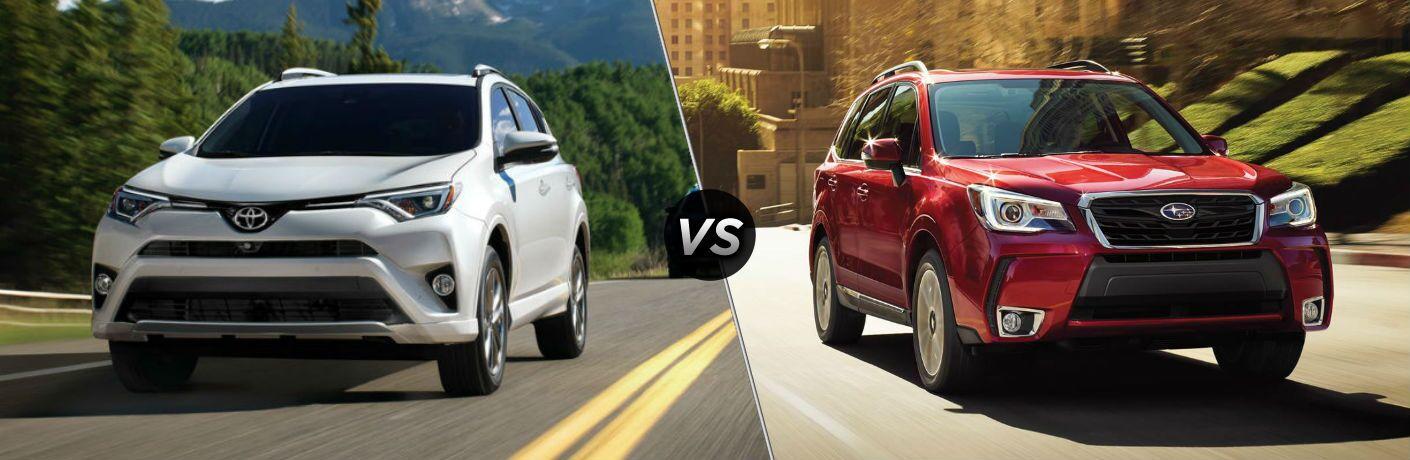 2018 Toyota RAV4 vs 2018 Subaru Forester