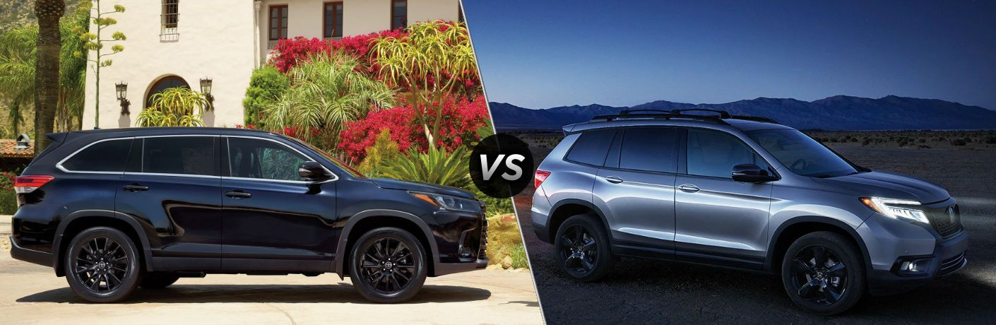 2019 Toyota Highlander Vs 2019 Honda Passport