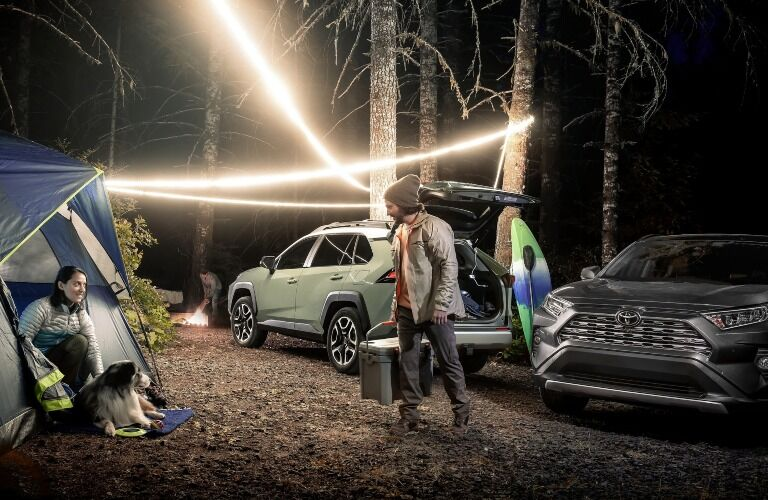 2020 Toyota RAV4 at a camp site