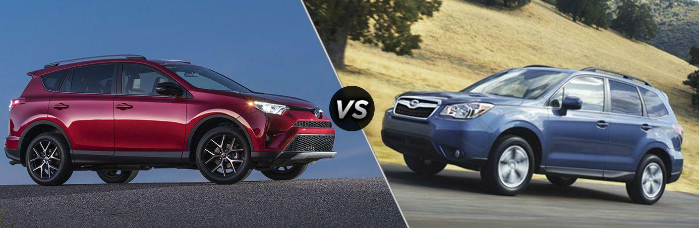 2016 Toyota RAV4 vs. 2016 Subaru Forester