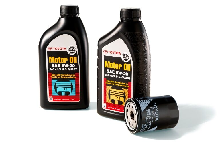 Toyota oil and oil filter
