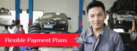 flexible payment plans with man in service center