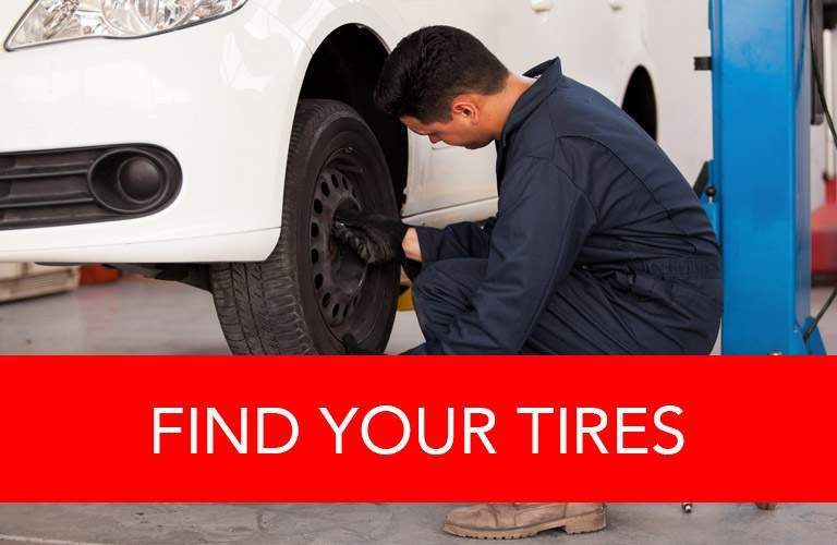 Find your tires button
