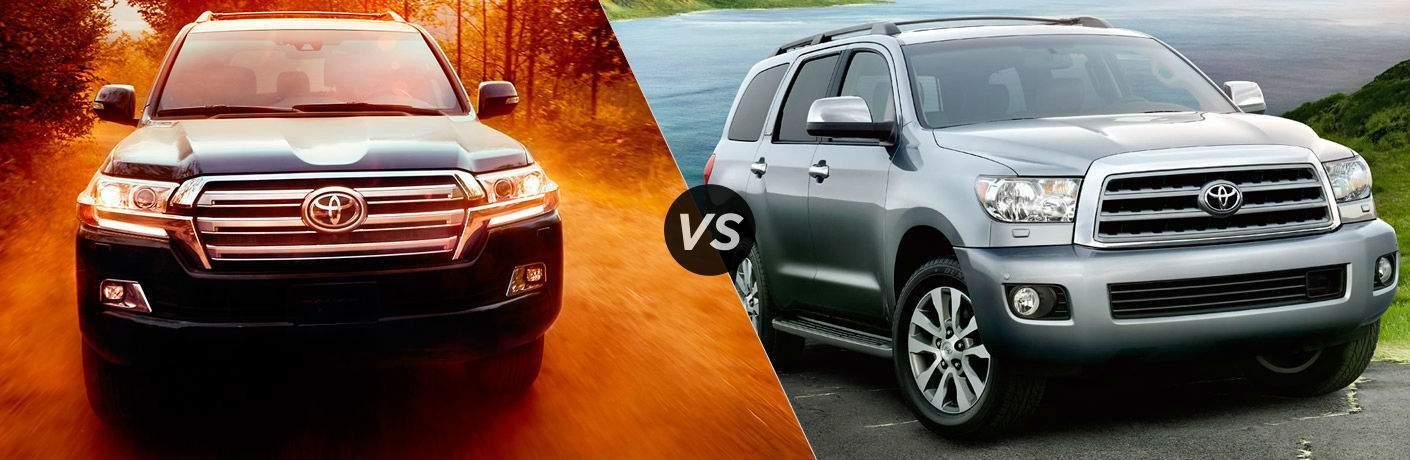 2017 Toyota Land Cruiser vs. 2017 Toyota Sequoia