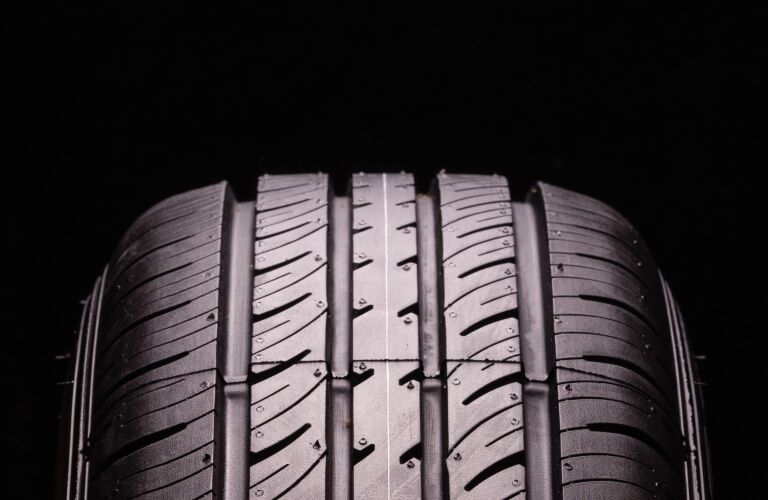 tire tread on a black background