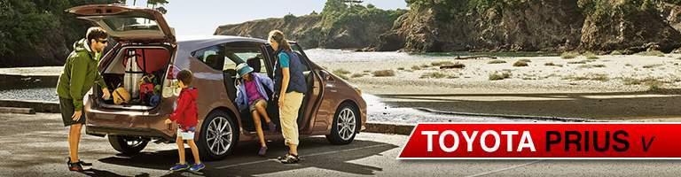 family packing 2018 Toyota Prius v