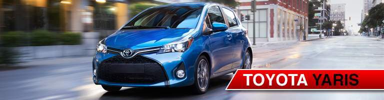 blue 2017 Toyota Yaris front grille