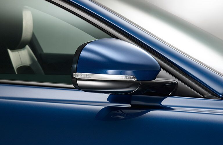 2017 Jaguar XE mirror blue