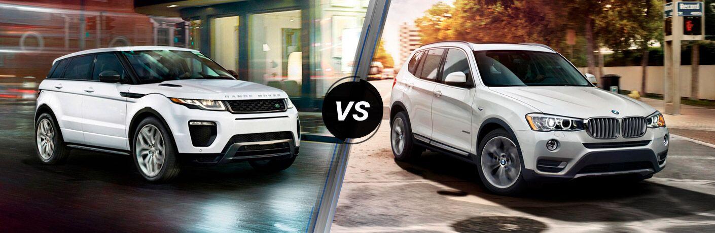 2017 Land Rover Range Rover Evoque vs 2017 BMW X3