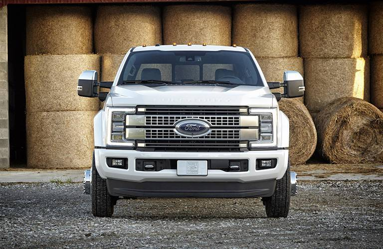 2017 Ford SuperDuty Exterior front view in white