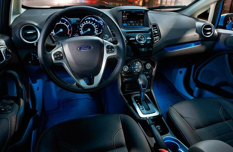 Steering wheel and dashboard of 2017 Ford Fiesta
