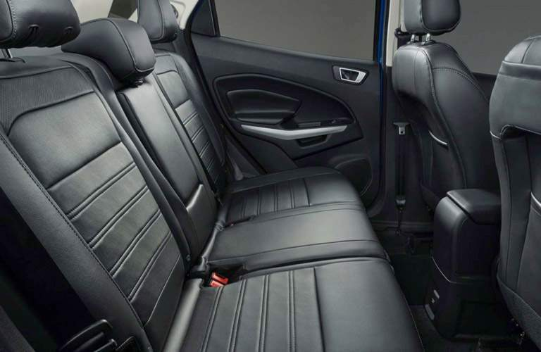 Side view of the 2018 Ford EcoSport's rear seats