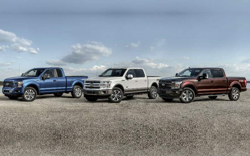 2018 Ford F-150 Exterior Model Lineup