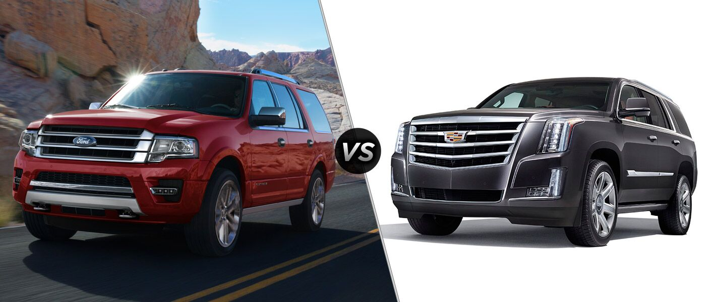 2016 ford expedition vs 2016 cadillac escalade. Black Bedroom Furniture Sets. Home Design Ideas