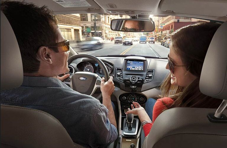 Couple Driving the 2017 Ford Fiesta