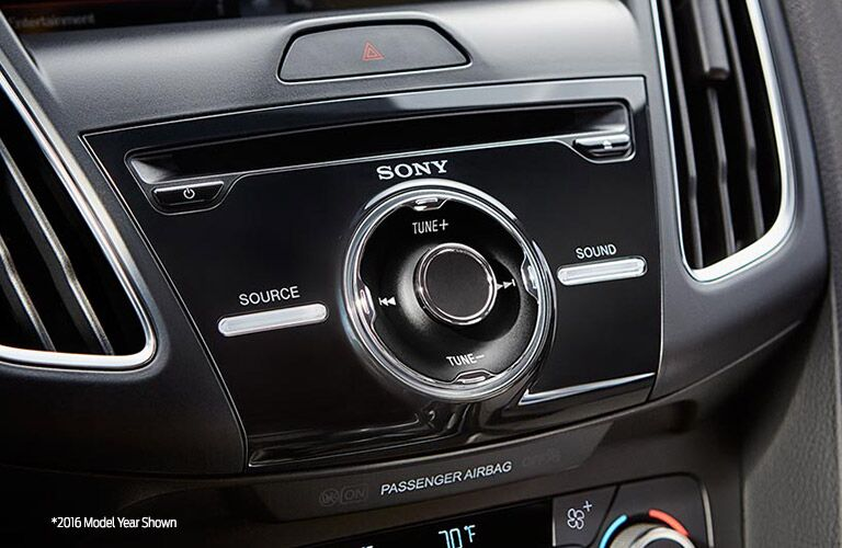 Sony Audio in the 2017 Ford Focus