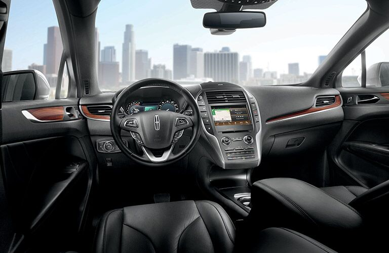 Interior on the 2017 Lincoln MKC