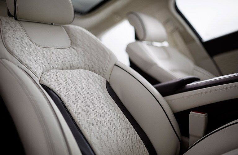 2017 Lincoln MKZ interior seat trimming options