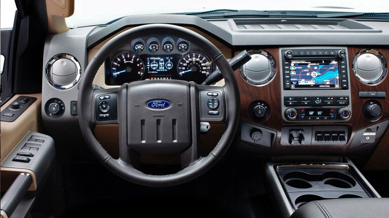 Interior Features Of The 2015 Ford F 250 In Cincinnati OH