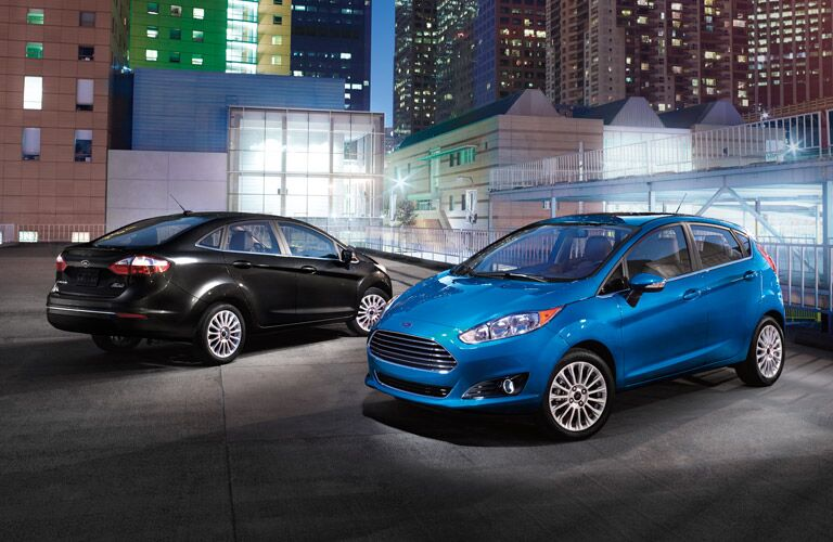 Black and Blue Ford Fiesta