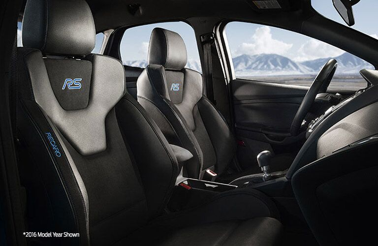 Interior on the 2017 Ford Focus RS