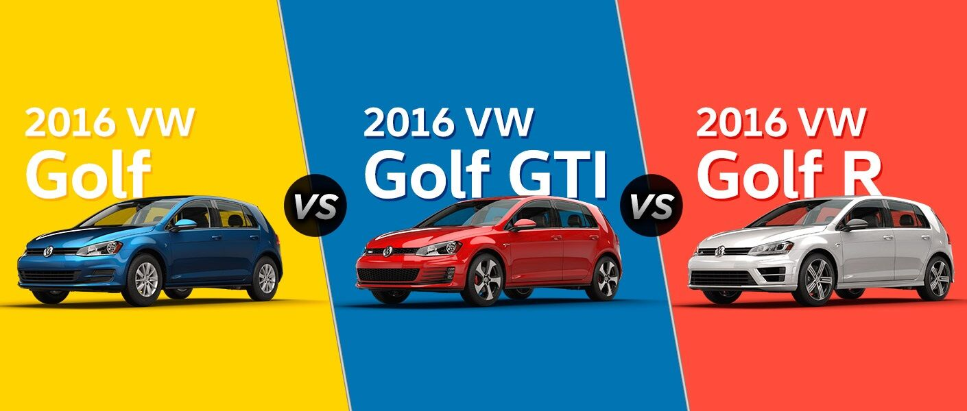2016 VW Golf vs. 2016 VW Golf GTI vs. 2016 VW Golf R Portland OR