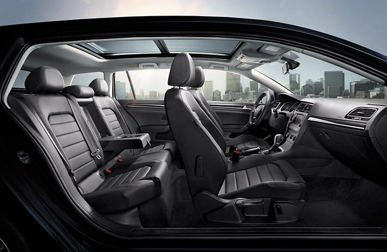 2016 VW Golf SportWagen interior seating