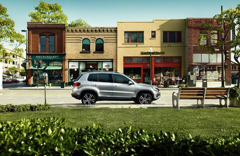 2017 Volkswagen Tiguan Limited parked outside city shops