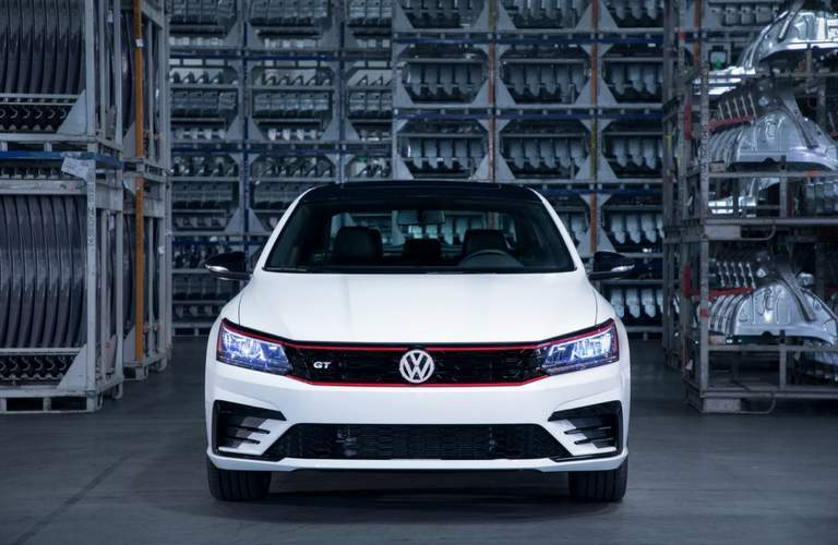 2018 Volkswagen Passat GT honeycomb grille view in warehouse