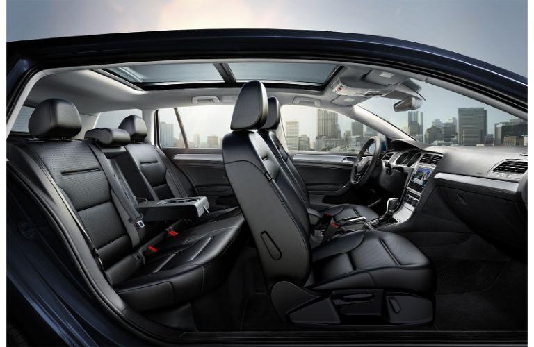 2019 VW Golf SportWagen side shot of the interior