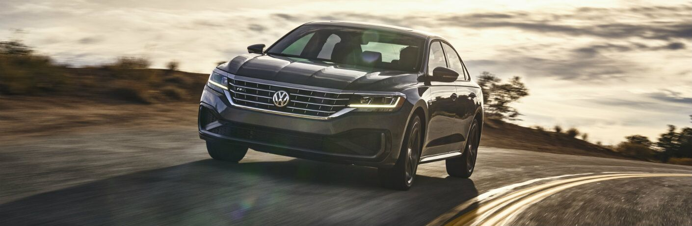 2020 Volkswagen Passat on a dusky highway